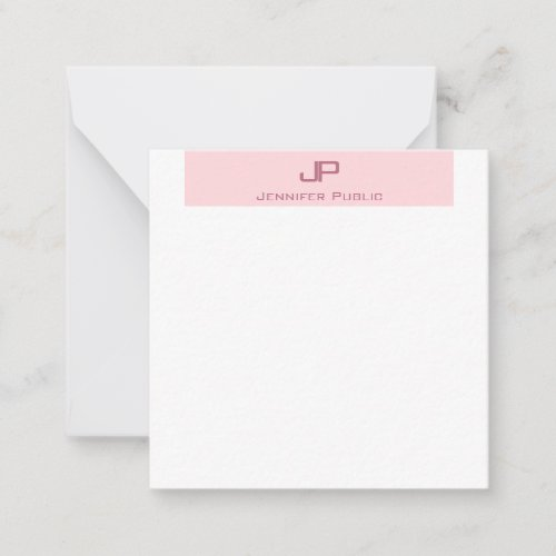 Creative Monogram Blush Pink Simple Template