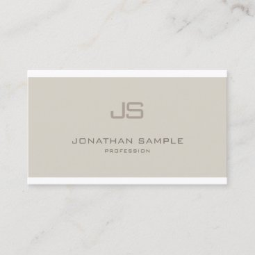 Creative Monogram Smooth Professional Plain Luxury Business Card