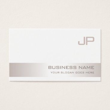 Creative Monogrammed Modern Plain Trendy Luxury Business Card