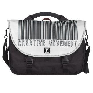 Creative Movement Global Bar Code Logo Bag For Laptop