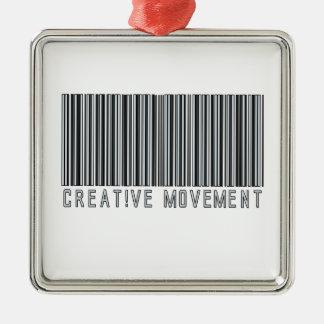 Creative Movement Global Bar Code Logo Ornaments