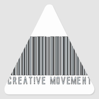 Creative Movement Global Bar Code Logo Triangle Sticker