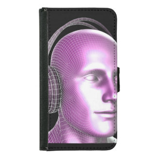 Creative Music and Dream State Technology as Art Wallet Phone Case For Samsung Galaxy S5