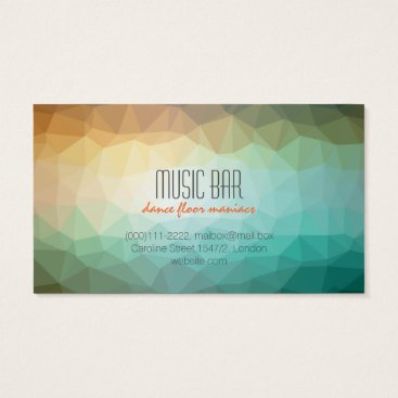 Beach Themed Creative music club business card