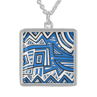 Creative Neat Affectionate Happy Square Pendant Necklace