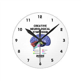 Creative Neurological Symposium Inside (Brain) Round Clock