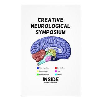 Creative Neurological Symposium Inside (Brain) Personalized Stationery