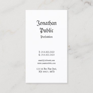 Creative Nostalgic Classic Vintage Professional Business Card