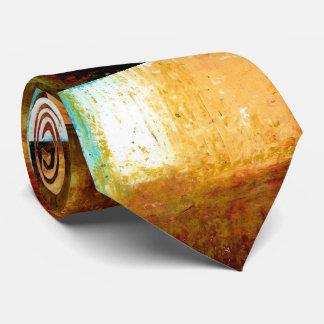 Creative Original Brown Abstract Art Modern Tie