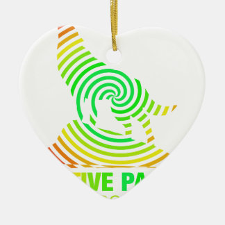 Creative Passion See's No Boundaries Double-Sided Heart Ceramic Christmas Ornament
