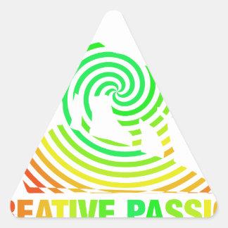 Creative Passion See's No Boundaries Triangle Sticker