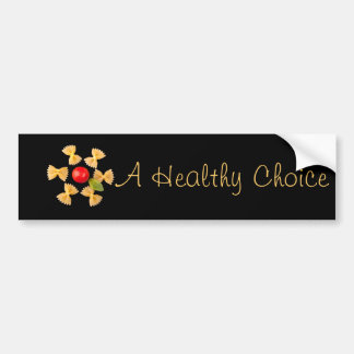 Creative Pasta Flower Bumper Sticker