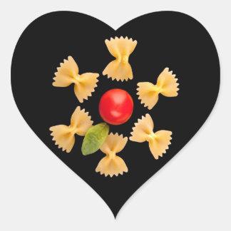 Creative Pasta Flower Heart Sticker