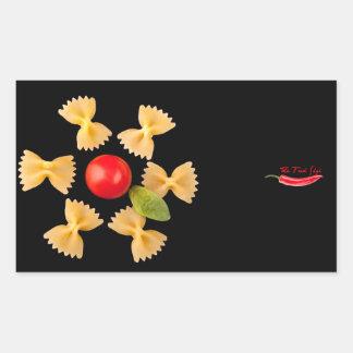 Creative Pasta Flower Rectangular Sticker