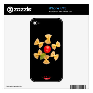 Creative Pasta Flower Skin For iPhone 4