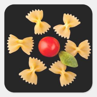 Creative Pasta Flower Square Sticker