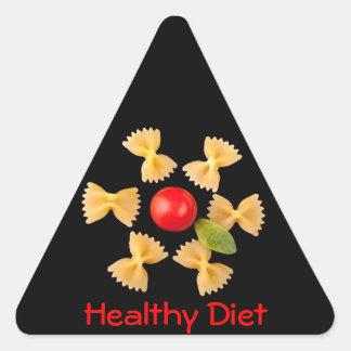 Creative Pasta Flower Triangle Sticker