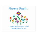 Creative People Postcard
