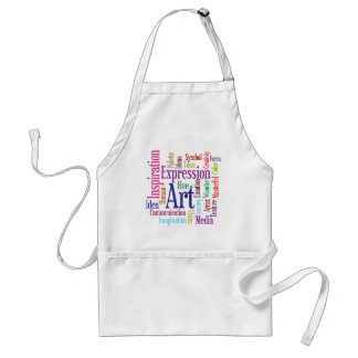 Creative Person's Art and Inspiration Word Cloud Adult Apron