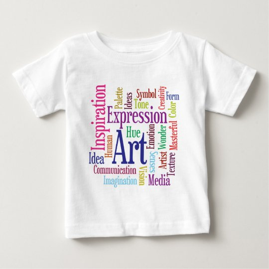 Creative Person's Art and Inspiration Word Cloud Baby T-Shirt