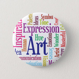 Creative Person's Art and Inspiration Word Cloud Button