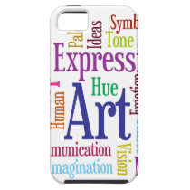 Creative Person's Art and Inspiration Word Cloud iPhone SE/5/5s Case