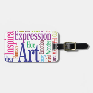 Creative Person's Art and Inspiration Word Cloud Luggage Tag