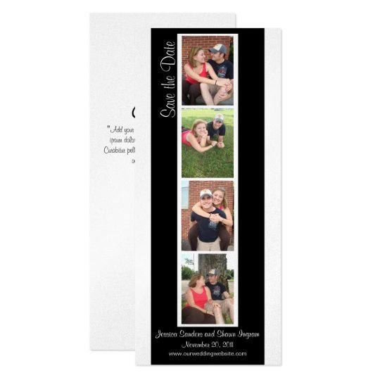 Creative Photo Booth Save the Date Card