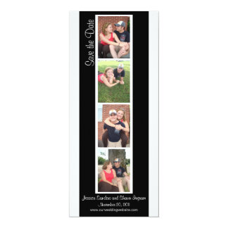 Creative Photo Booth Save the Date 4x9.25 Paper Invitation Card
