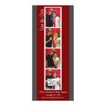 Creative Photo Booth Save the Date (Red & Pewter) Announcements