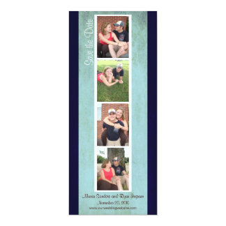 Creative Photo Booth Save the Date (Sky Blue) 4x9.25 Paper Invitation Card