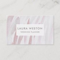 Creative Pink Brushstroke Modern Business Card