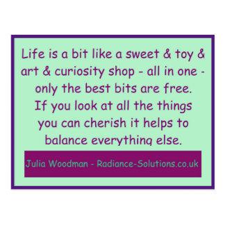 Creative Postcard 11 Cherish the Free Most / Shop