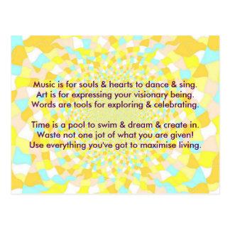 Creative Postcard 1a - Art & Motivational Wording