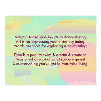Creative Postcard 1c - Art & Motivational Wording