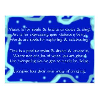 Creative Postcard 1i - Art & Motivational Wording