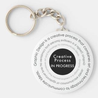 Creative Process in Progress Design Keychain