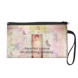 Creative quote about artists by Jane Austen Wristlet Clutch