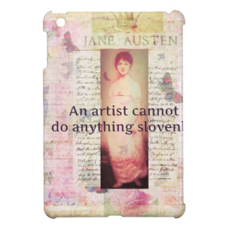 Creative quote about artists by Jane Austen iPad Mini Covers
