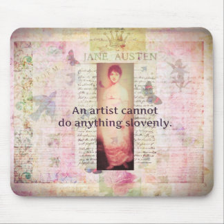 Creative quote about artists by Jane Austen Mousepads