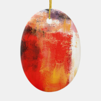 Creative Red Abstract Ceramic Ornament
