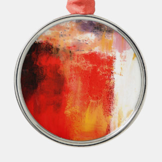 Creative Red Abstract Metal Ornament