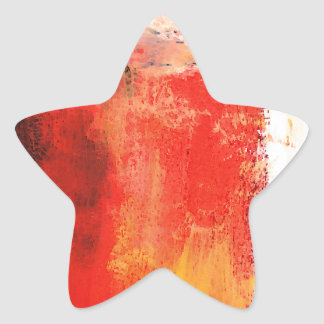 Creative Red Abstract Star Sticker