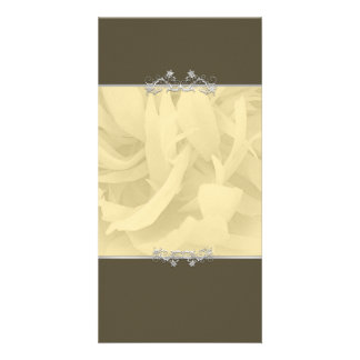 Creative sandal colored blossom gift photo card template