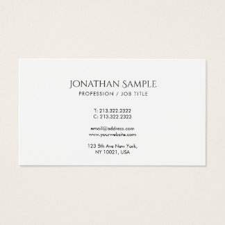 Creative Simple Design Modern Professional Business Card