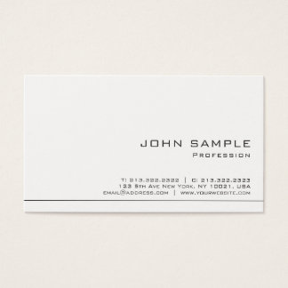 Creative Simple Professional Modern White Matte Business Card