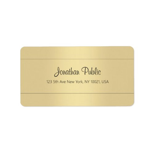 Creative Simple Template Gold Look Trendy Address Label