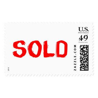 Creative Sold Items Design Postage Stamp