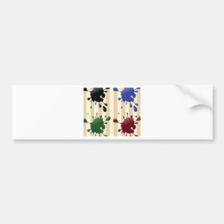 Creative splash design bumper stickers