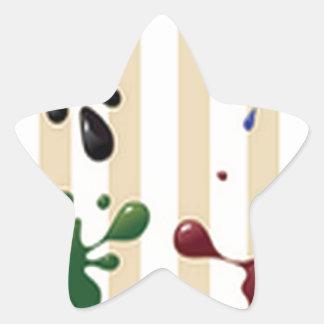 Creative splash design star sticker